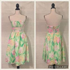 Lilly Pulitzer lily green Katrina strapless dress